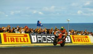 Giugliano produced his trademark wild moves in PI. Photo: Ducati
