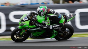 Krummenacher wins a dramatic opening race. Photo: WSBK
