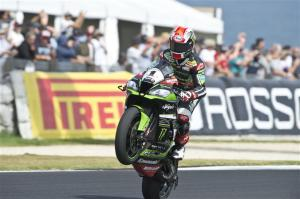 Rea celebrates after a tense race. Photo: KRT